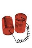 Téléphone de boîte en fer blanc Image stock