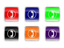 Téléphone de boutons Image stock