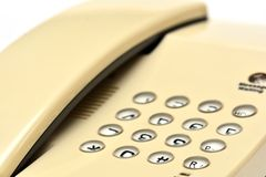 Téléphone de bureau blanc Image stock