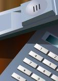 Téléphone de bureau sur la table Photo libre de droits