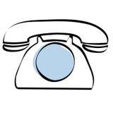 téléphone de cadran illustration libre de droits