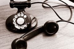 Téléphone de cadran rotatoire de cru images stock
