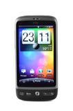 Téléphone de confort de désir de HTC d'isolement sur le blanc Photographie stock libre de droits