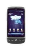 Téléphone de confort de désir de HTC d'isolement sur le blanc Photo stock