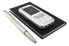 téléphone de crayon lecteur d'organisateur Photo libre de droits