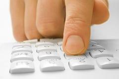 téléphone de doigt Images libres de droits