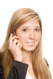 Téléphone de femme Photographie stock libre de droits