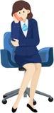 téléphone de femme d'affaires Images libres de droits