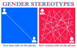 Téléphone de femme d'homme illustration stock