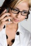 téléphone de fille Photographie stock libre de droits