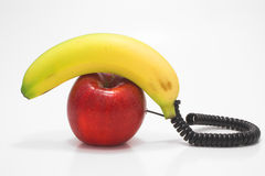 Téléphone de fruit Photographie stock libre de droits