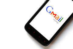 Téléphone de Gmail Photo libre de droits