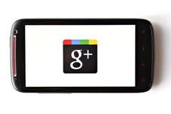 Téléphone de Google+ photo stock