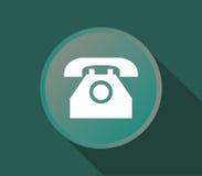 Téléphone de ligne terrestre d'icône Photo stock