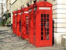 téléphone de Londres de cabines Images libres de droits