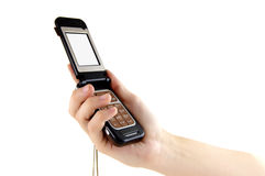 téléphone de main de cellules Image stock