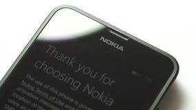 Téléphone de Microsoft Windows - merci pour l'usage de Nokia banque de vidéos