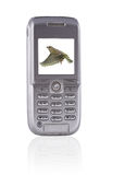 Téléphone de Mobil avec le joueur de musique images stock