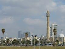 téléphone de panorama de l'Israël d'aviv Photo stock