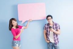 Téléphone de prise de couples Images libres de droits