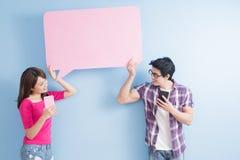 Téléphone de prise de couples Photo libre de droits