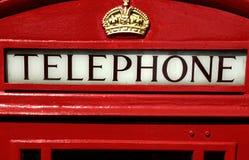 téléphone de rouge de Londres de cadre Photos libres de droits