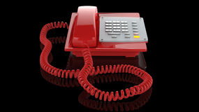 Téléphone de rouge de secours Photos libres de droits