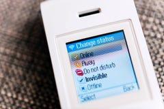 Téléphone de Skype avec des statuts Photo stock