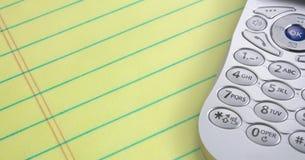 téléphone de tampon de cellules Photo libre de droits