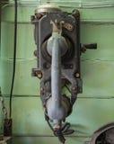 Téléphone de vintage sur le mur photographie stock libre de droits