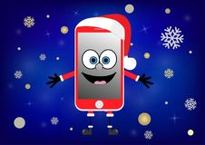 Téléphone drôle mobile Photo stock