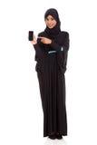 Téléphone du Moyen-Orient de femme Photos stock