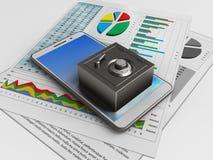 téléphone du swhite 3d Photo libre de droits