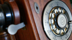 Téléphone en bois Photographie stock