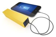 Téléphone et banque futés de puissance Image stock