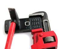Téléphone et clé réglable Photo stock
