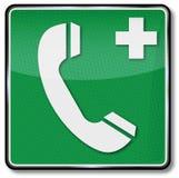 Téléphone et cri pour l'aide médicale illustration de vecteur