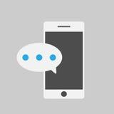 Téléphone et massege futés, style plat Images libres de droits