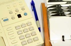 Téléphone et Rolodex Image stock