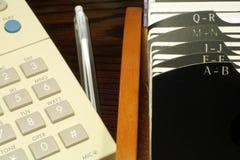 Téléphone et Rolodex Images libres de droits