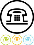 Téléphone - graphisme de vecteur d'isolement sur le blanc Photo stock