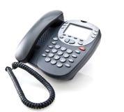 Téléphone gris de bureau Photographie stock