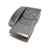 Téléphone gris de bureau Images stock