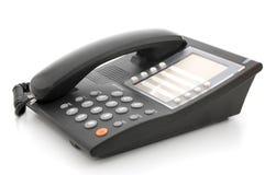 Téléphone gris de bureau Images libres de droits