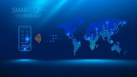 Téléphone intelligent à relier au monde Images stock
