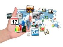 Téléphone intelligent avec des applications Image stock
