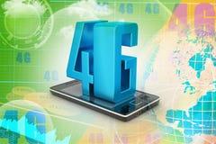 Téléphone intelligent avec 4G Photo libre de droits