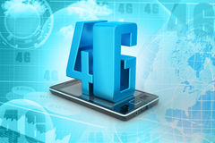 Téléphone intelligent avec 4G Images stock