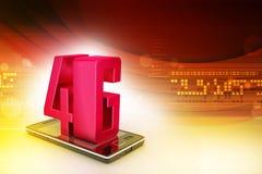 Téléphone intelligent avec 4G Photos stock