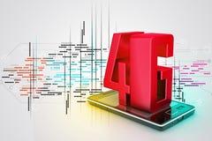 Téléphone intelligent avec 4G Image stock